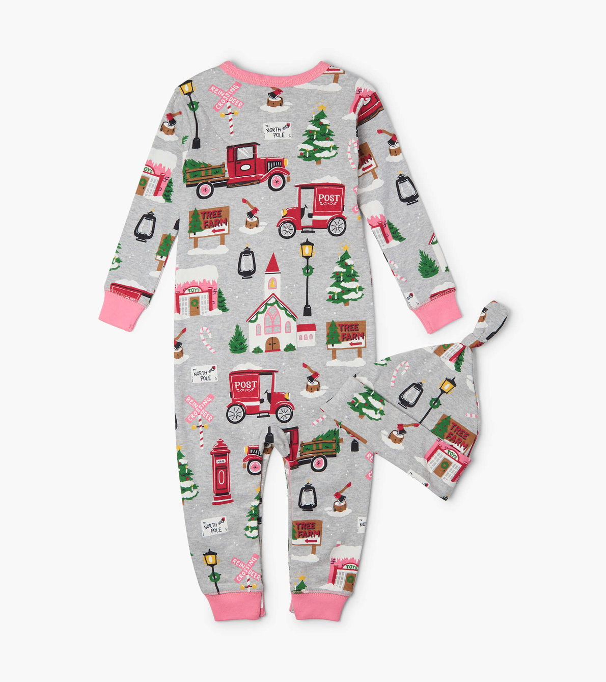 View larger image of Christmas Village Baby Coverall with Hat