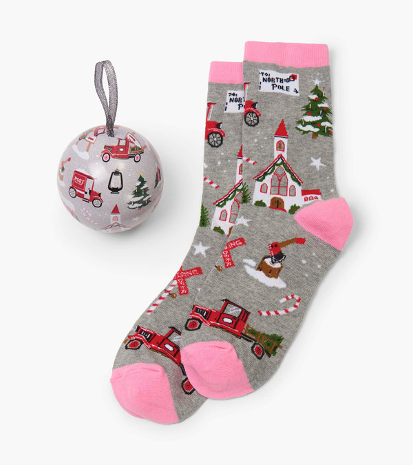 Christmas Village Women's Socks In Balls