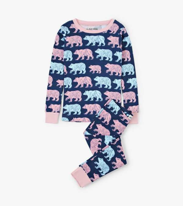 Cottage Bears Kids Pajama Set