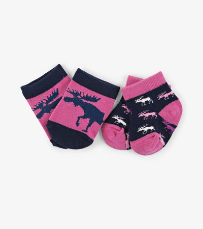 Cottage Moose 2-Pack Baby Socks