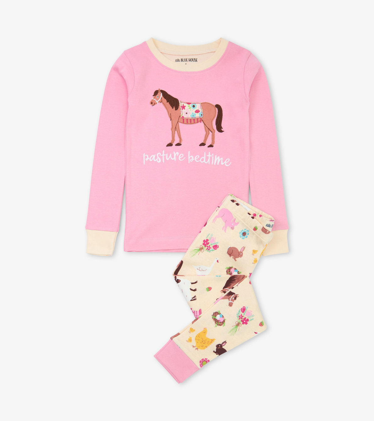 View larger image of Country Living Kids Applique Pajama Set