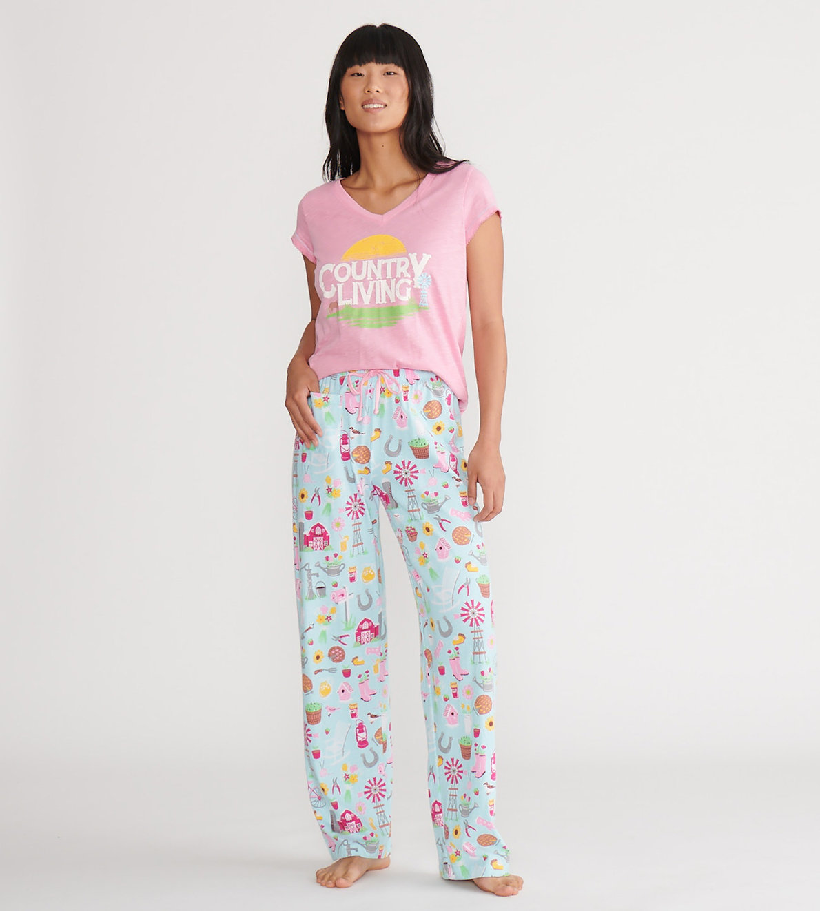 View larger image of Country Living Women's Tee and Pants Pajama Separates