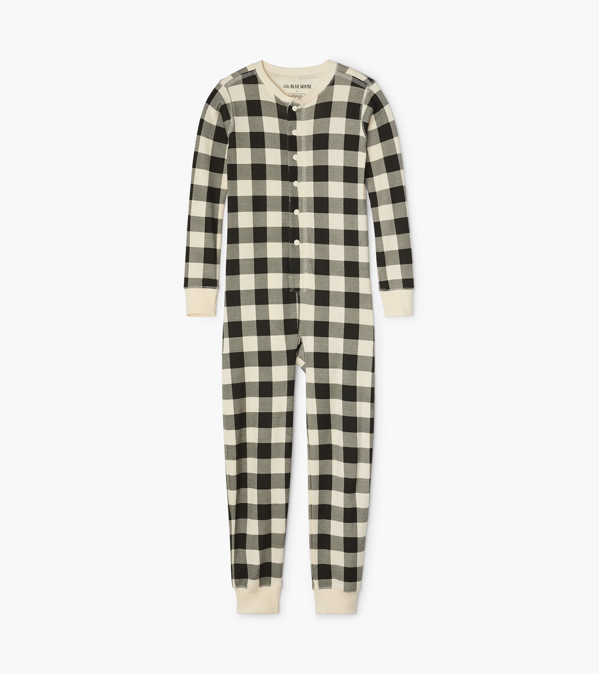 View larger image of Cream Plaid Kids Union Suit