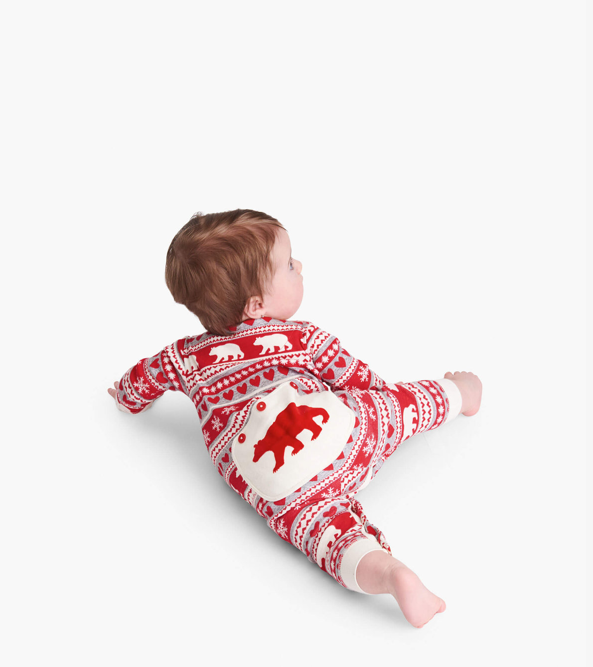 View larger image of Fair Isle Bear Baby Union Suit