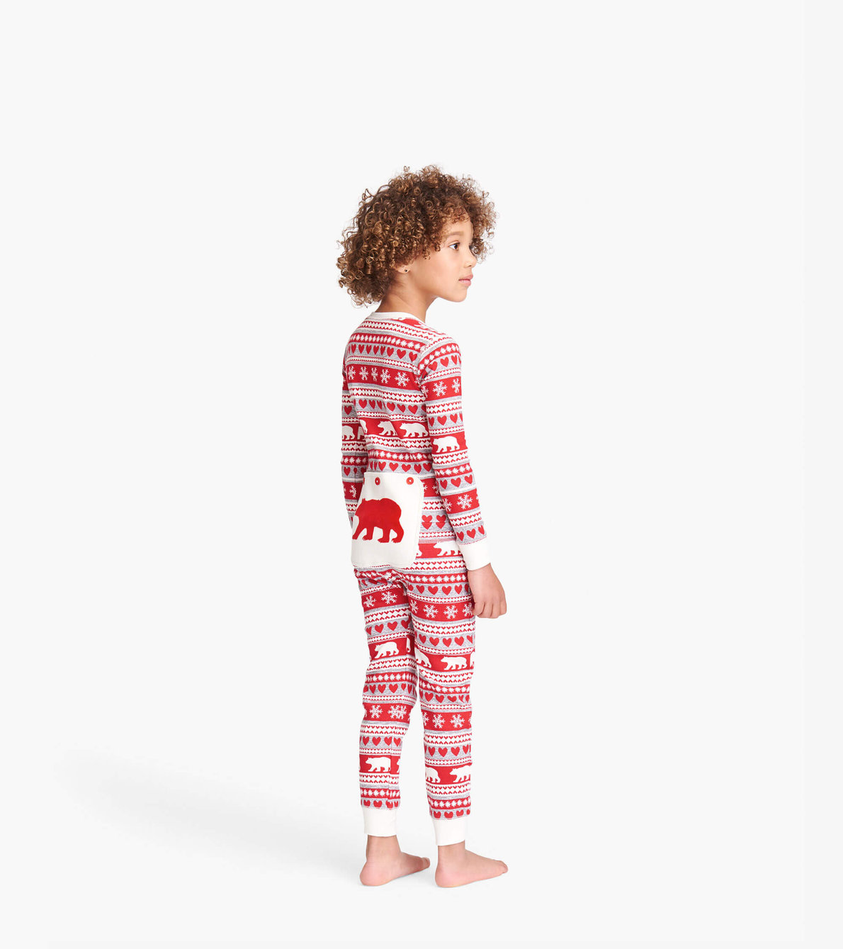 View larger image of Fair Isle Bear Kids Union Suit