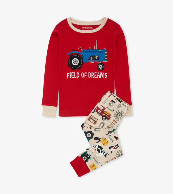 Farm Life Kids Appliqué Pajama Set