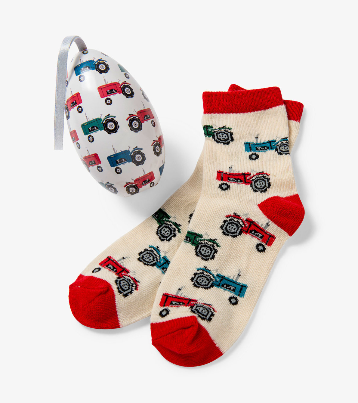 View larger image of Farm Tractors Kids Socks In Eggs