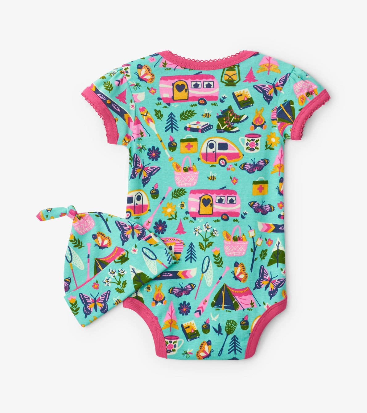 View larger image of Glamping Baby Bodysuit with Hat
