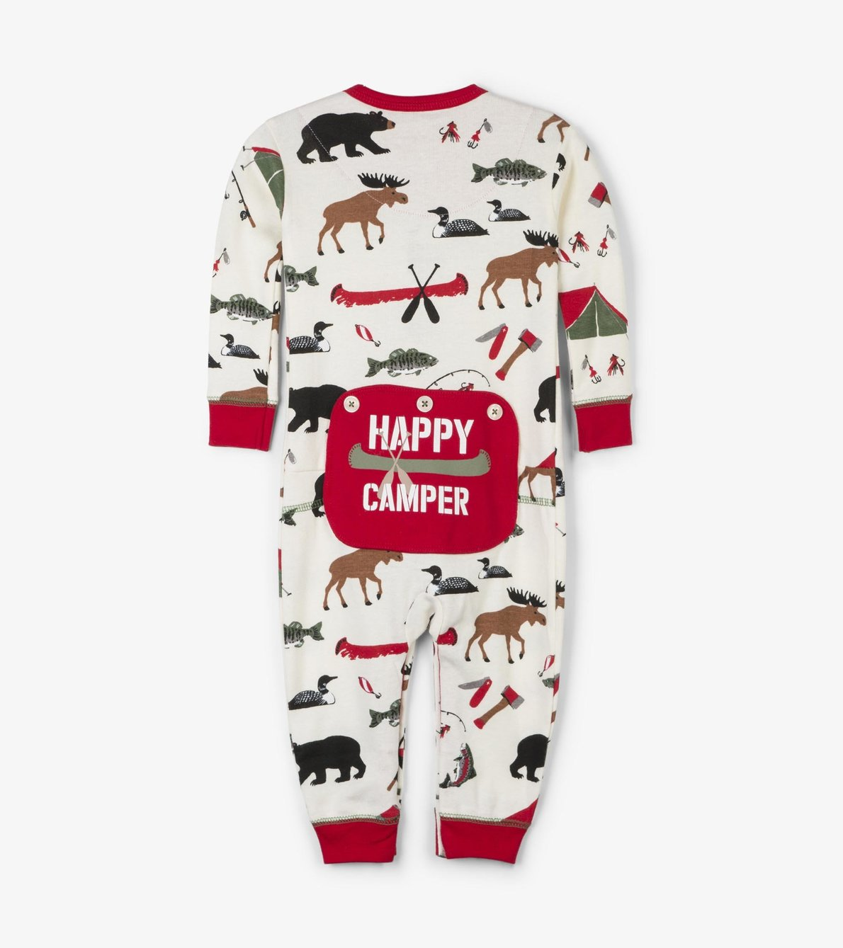 View larger image of Gone Camping Baby Union Suit
