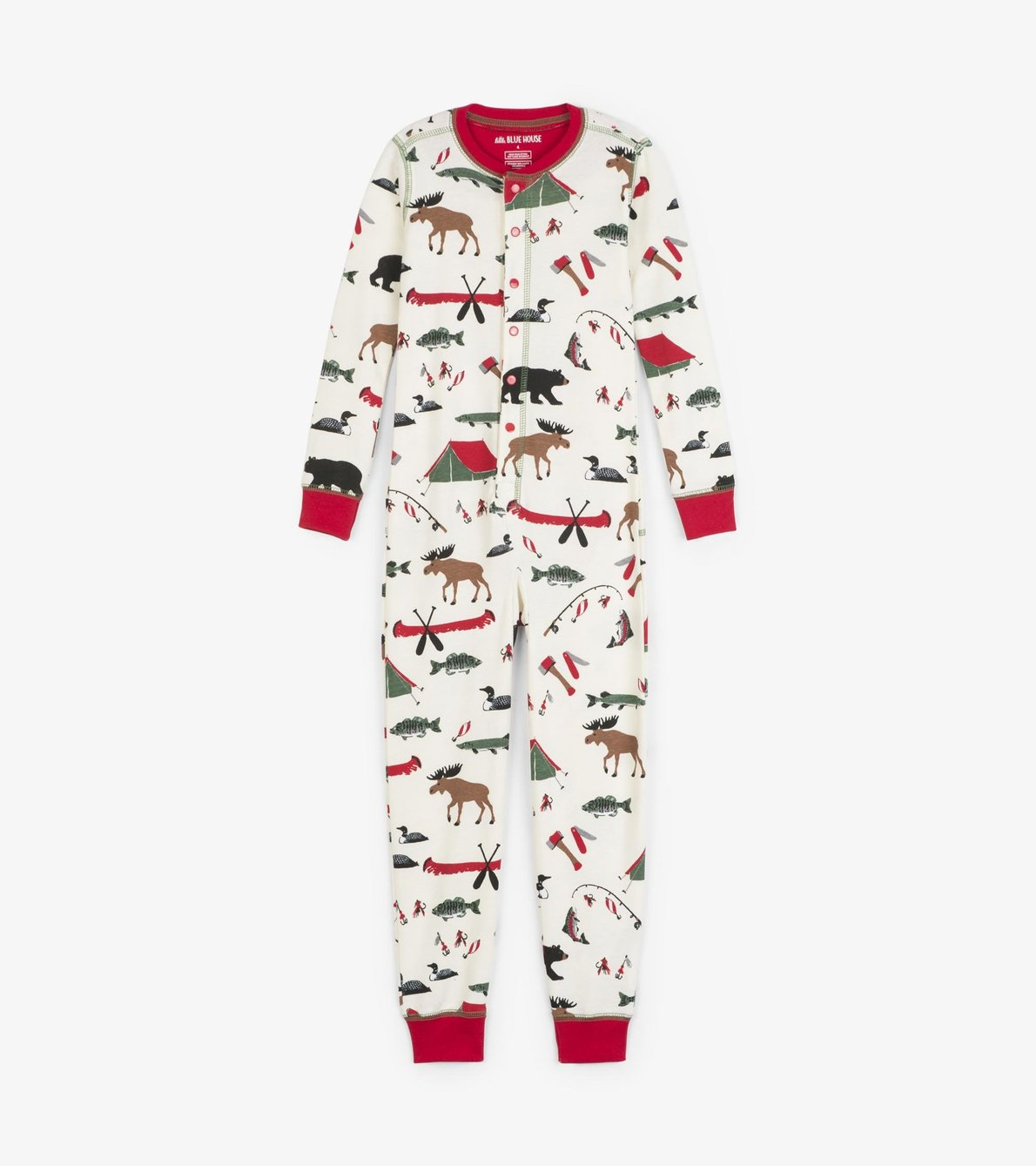 View larger image of Gone Camping Kids Union Suit