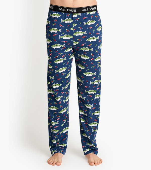 Gone Fishing Men's Jersey Pajama Pants