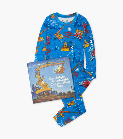 Goodnight, Goodnight, Construction Site Kids Book and Pajama Set