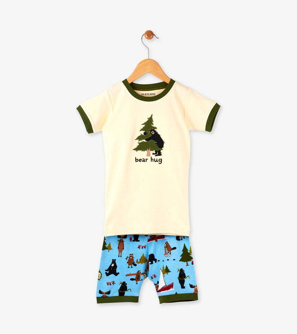 "Green Book ""Bear Hug"" Kids Short Pajama Set"