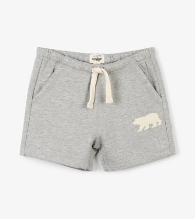 Grey Melange Kids Heritage Shorts