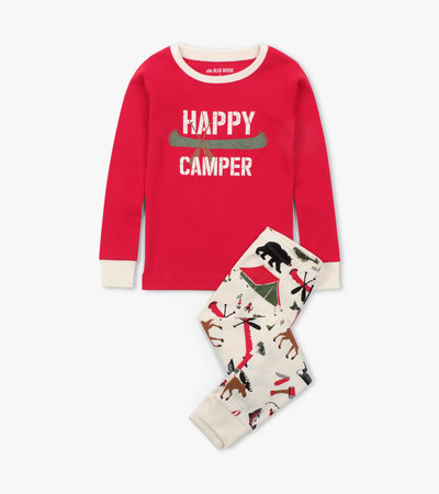 Happy Camper Kids Appliqué Pajama Set
