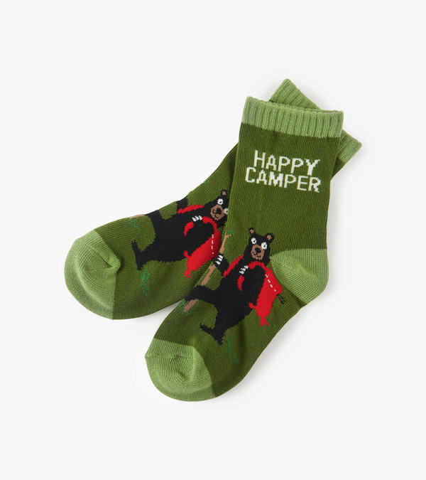 Happy Camper Kids Crew Socks