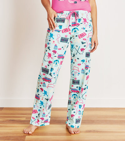 Hockey Mom Women's Jersey Pajama Pants