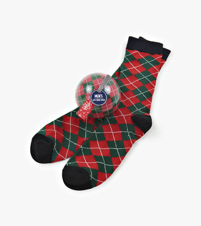 Holiday Argyle Men's Socks in Balls