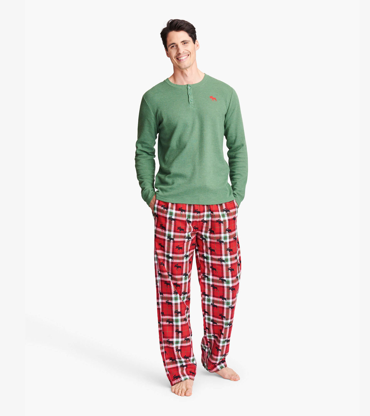 View larger image of Holiday Moose on Plaid Family Pajamas