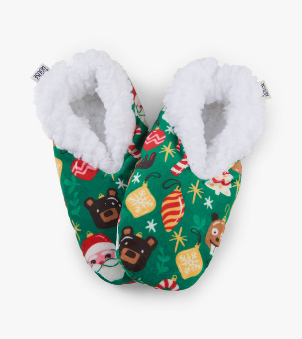 Holiday Ornaments Women's Warm and Cozy Slippers