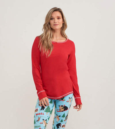 Holiday Red Women's Stretch Jersey Top
