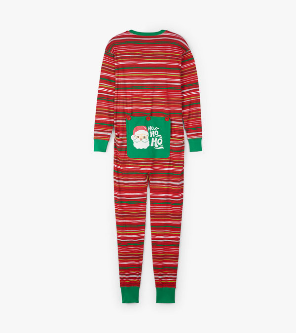 Holiday Stripes Adult Union Suit