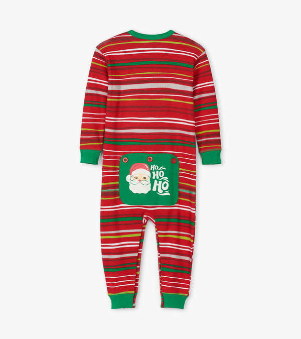Holiday Stripes Baby Union Suit