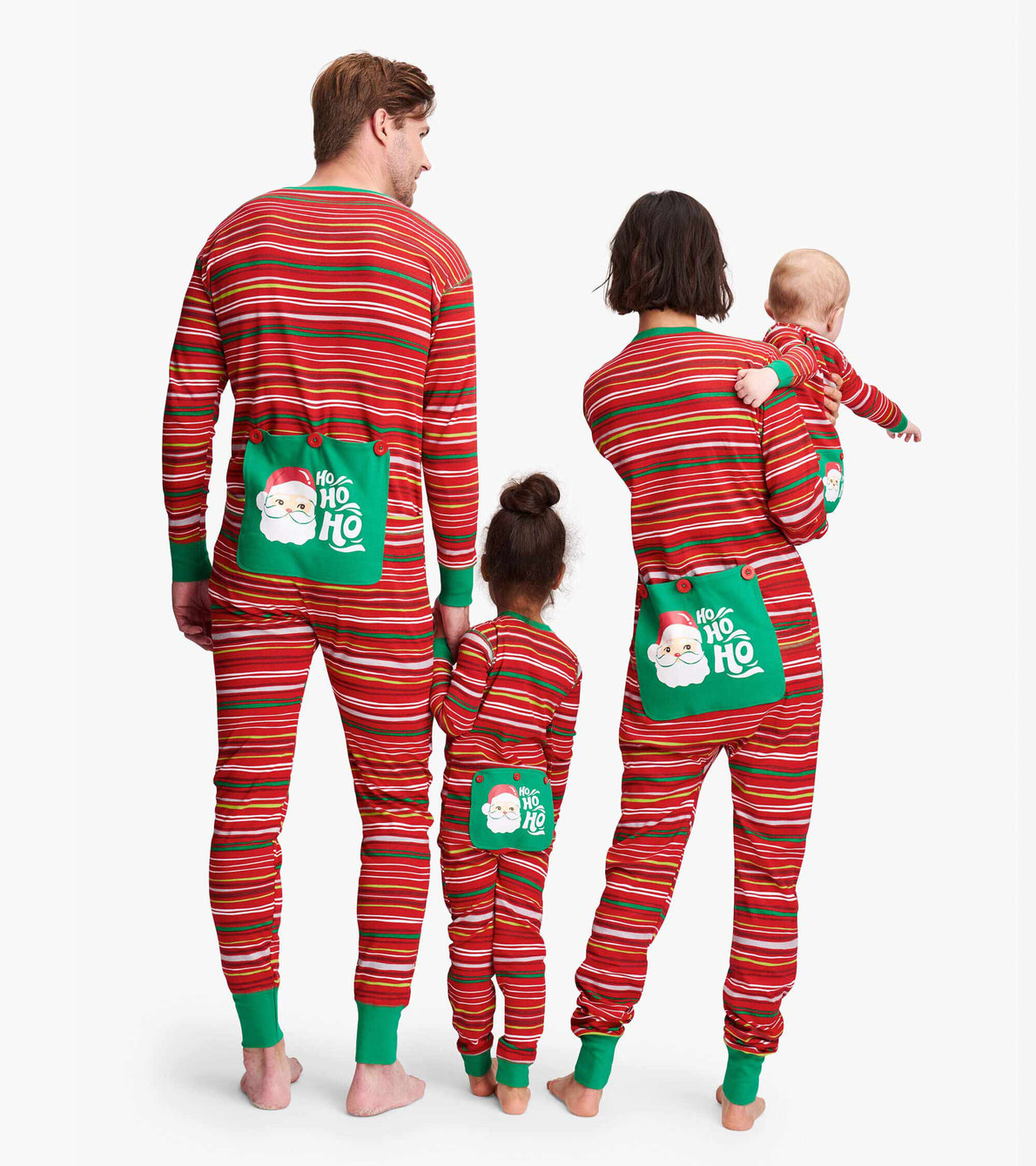 View larger image of Holiday Stripes Kids Union Suit