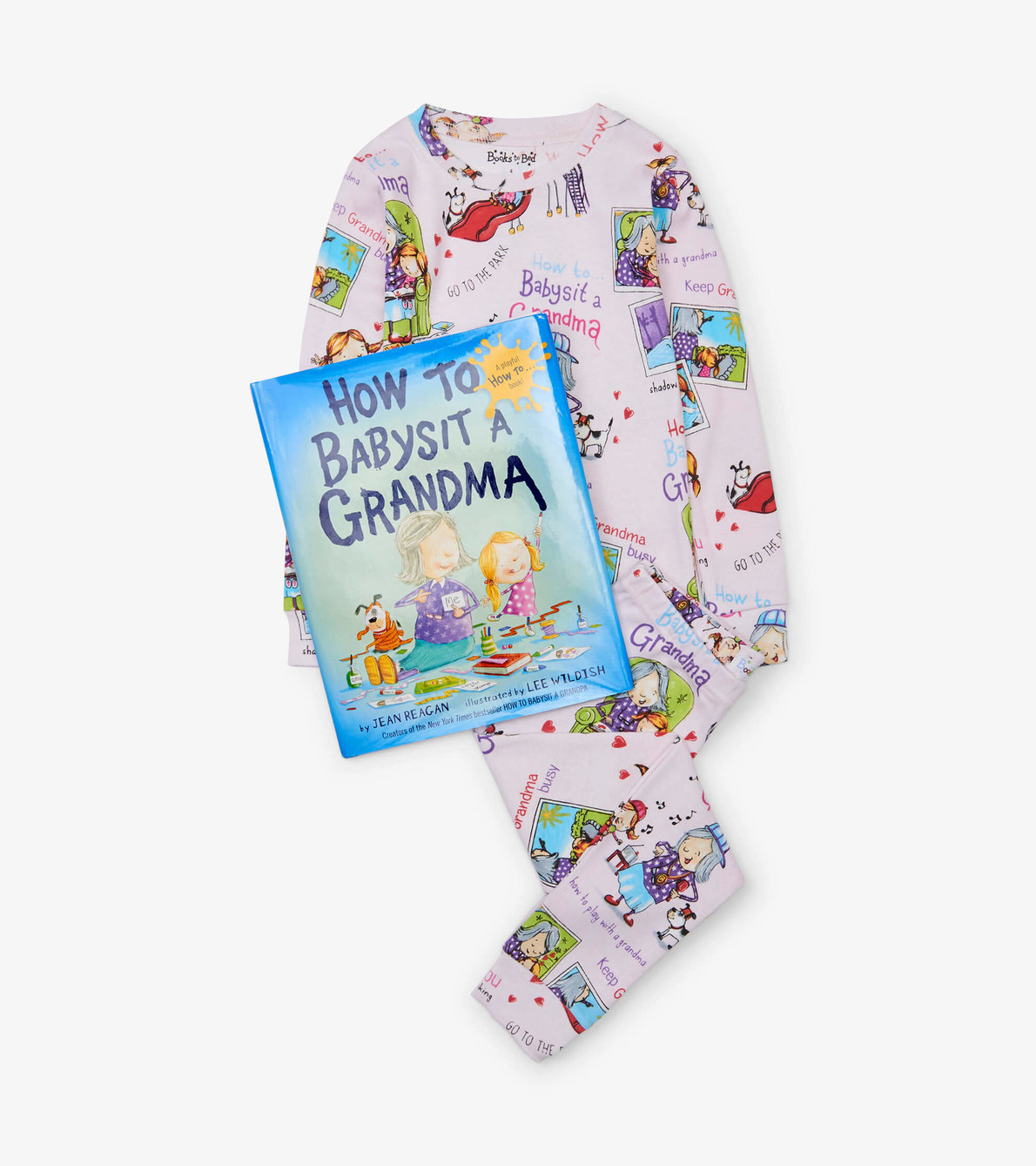 View larger image of How to Babysit a Grandma Book and Pajama Set