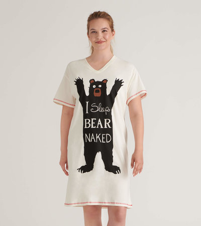 I Sleep Bear Naked Women's Sleepshirt