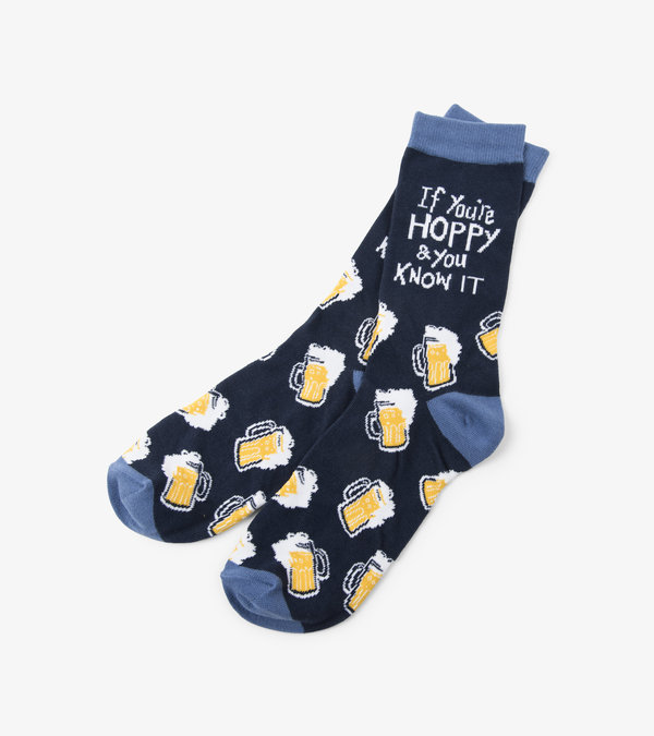 If You're Hoppy And You Know it Men's Crew Socks