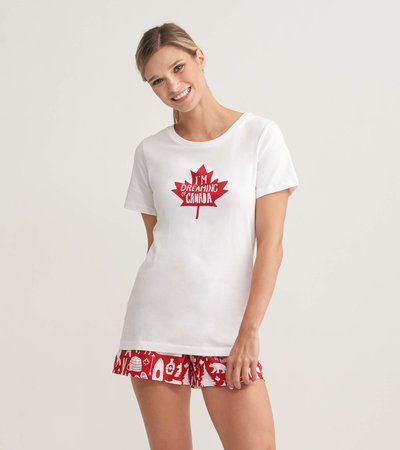 I'm Dreaming of Canada Women's Pajama Tee