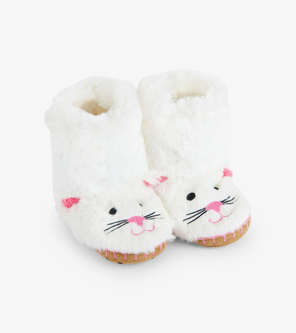 Kitty Cat Kids Fuzzy Slouch Slippers