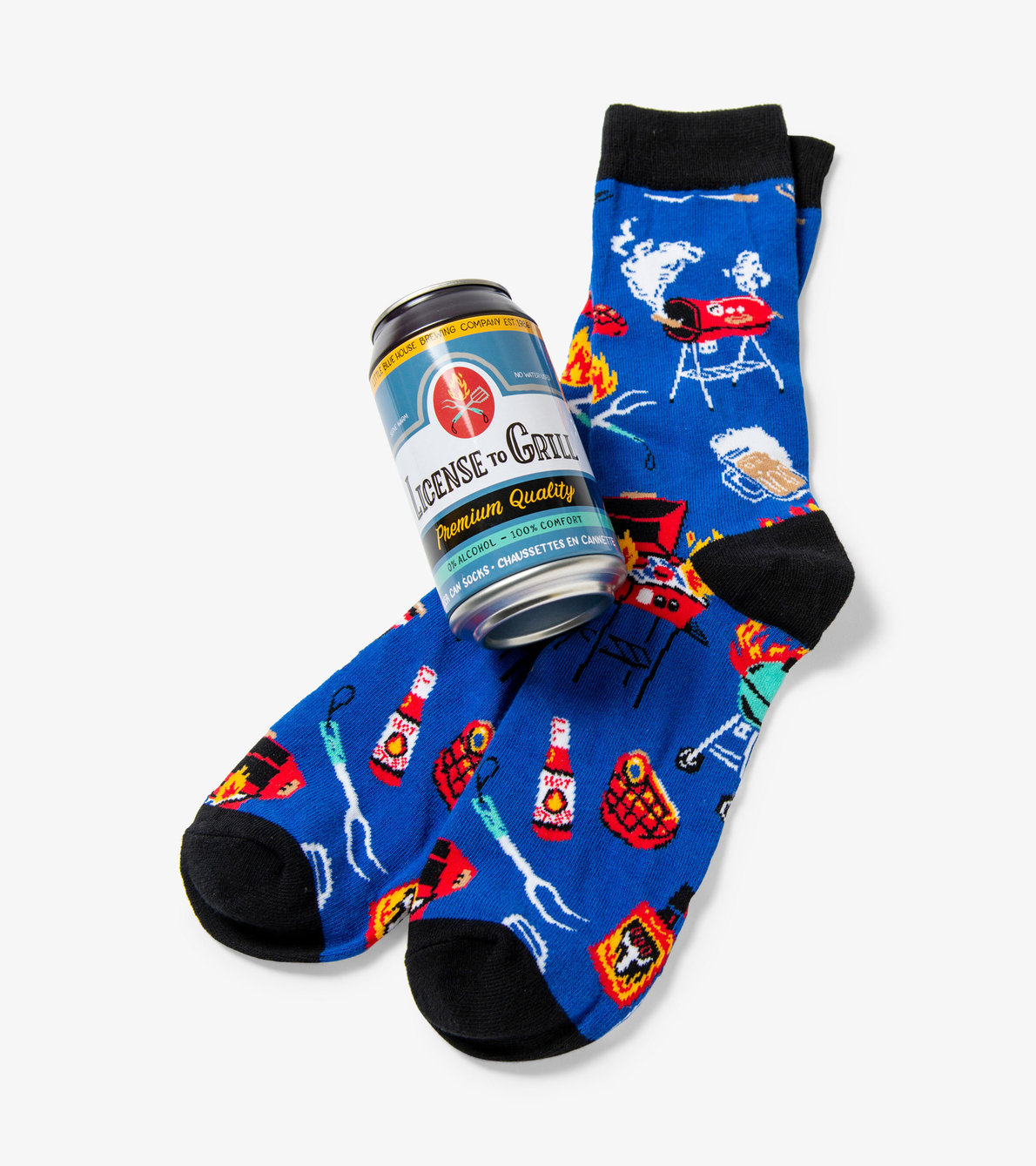 View larger image of Licence To Grill Men's Beer Can Socks