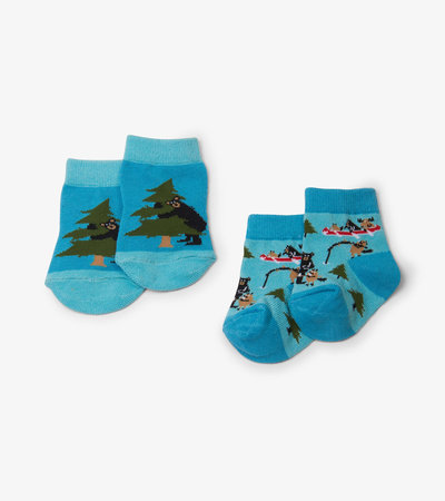 Life in the Wild Blue 2-Pack Baby Socks