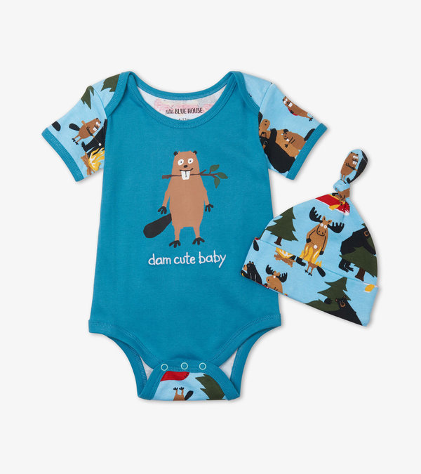 Life in the Wild Blue Bodysuit with Hat