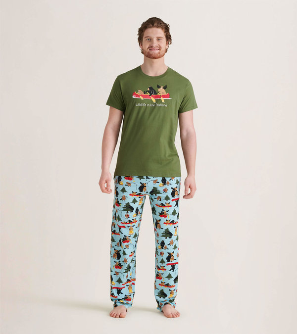 Life in the Wild Men's Tee and Pants Pajama Separates