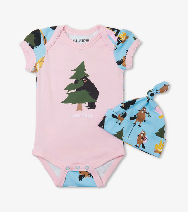 Life in the Wild Pink Bodysuit with Hat