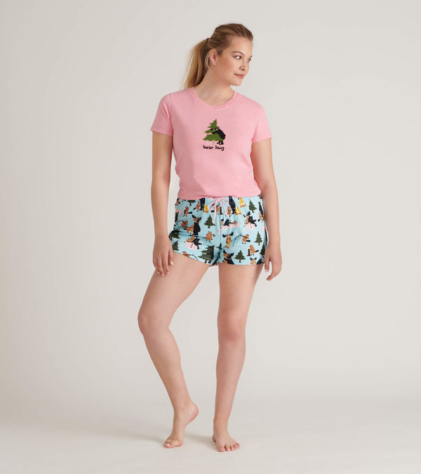 Life in the Wild Women's Tee and Shorts Pajama Separates