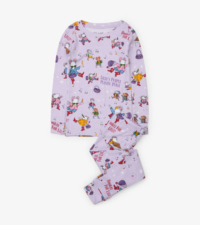 Lilly's Purple Plastic Purse Pajama Set