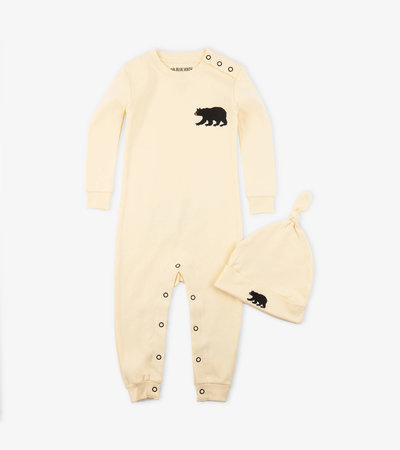 Little Bear Bum Baby Coverall with Hat