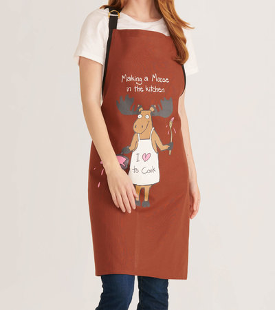 Making a Moose in the Kitchen Apron