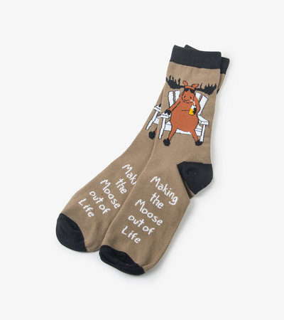 Making the Moose out of Life Men's Crew Socks