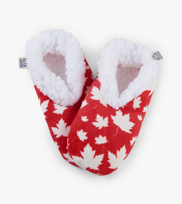Maple Leaves Women's Warm and Cozy Slippers