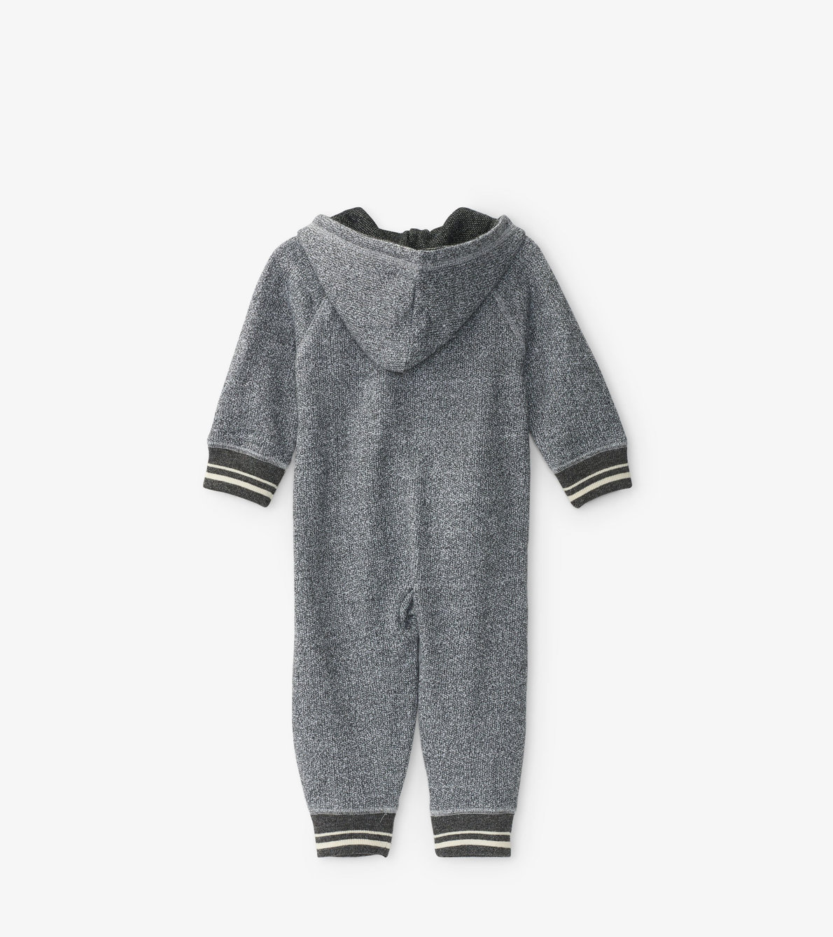 View larger image of Marled Grey Baby Heritage Full Zip Romper