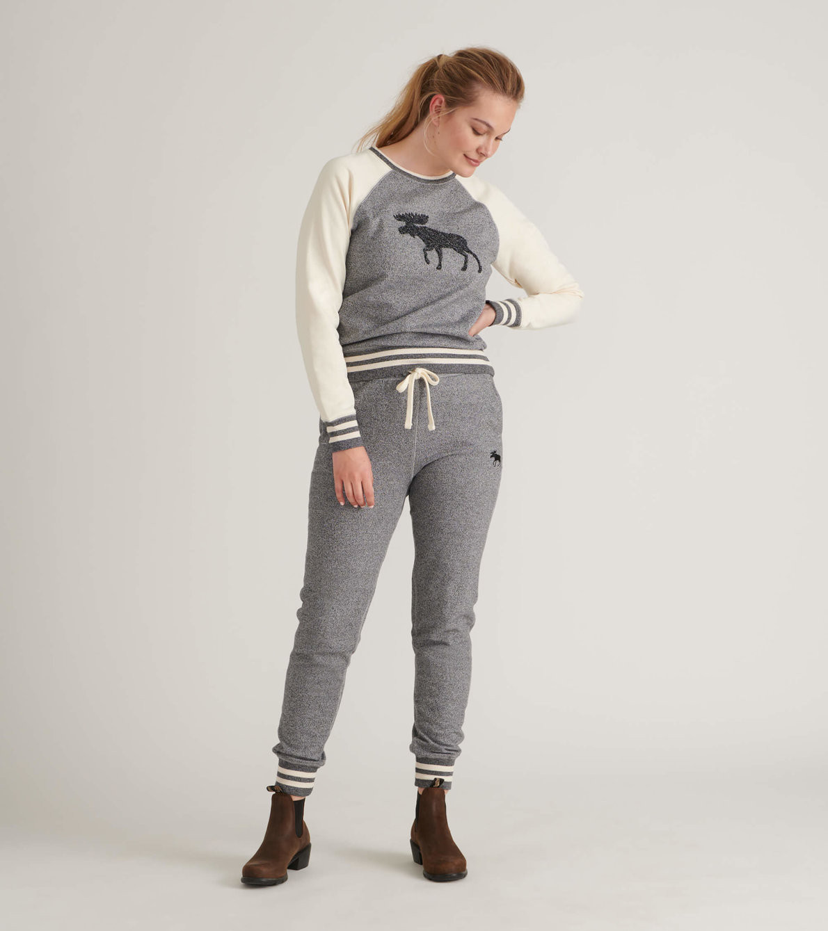 View larger image of Marled Grey Moose Women's Heritage Slim Fit Joggers