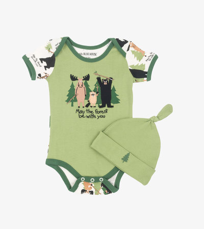 May the Forest Be with You Baby Bodysuit with Hat
