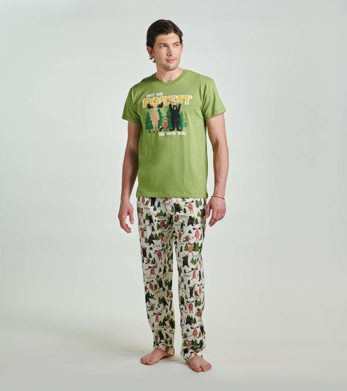 View larger image of May the Forest Be With You Men's Jersey Pajama Pants