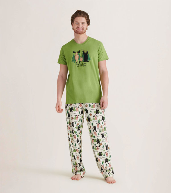 May The Forest Be With You Men's Tee and Pants Pajama Separates