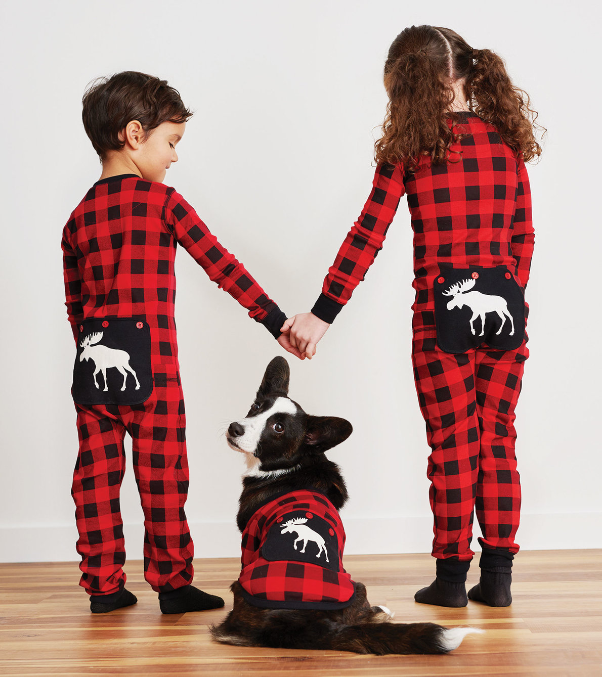 View larger image of Moose On Plaid Kids Union Suit